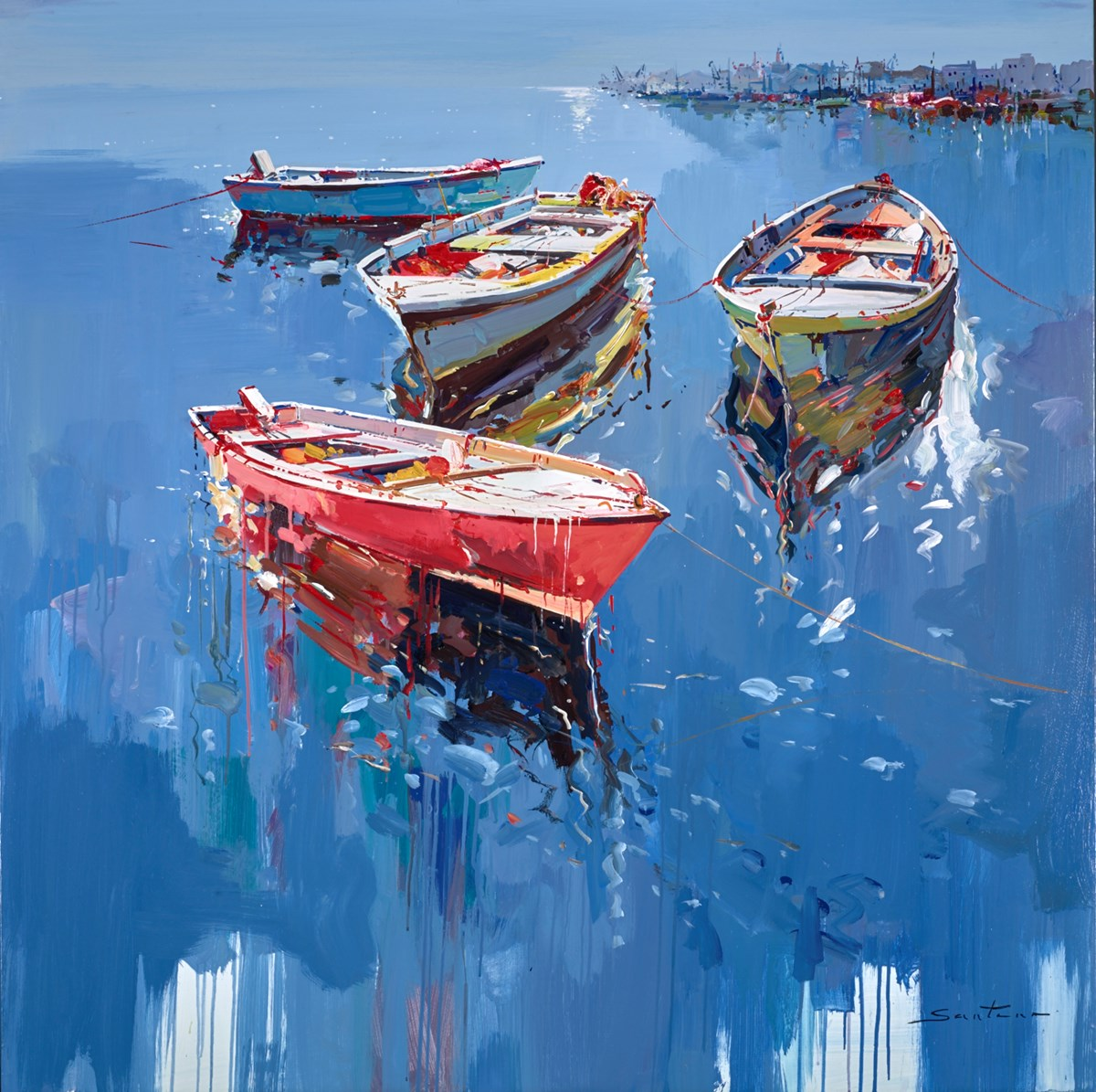 Harbour Life VI by santana -  sized 47x47 inches. Available from Whitewall Galleries